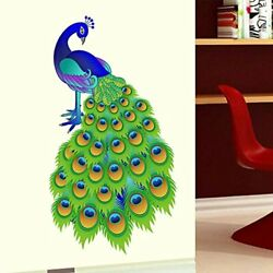 Slender Peacock Wall Stickers Vinyl Decal Mural Home Decor Removable