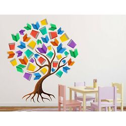 Tree With Books Wall Stickers Vinyl Decal Mural Home Decor Removable