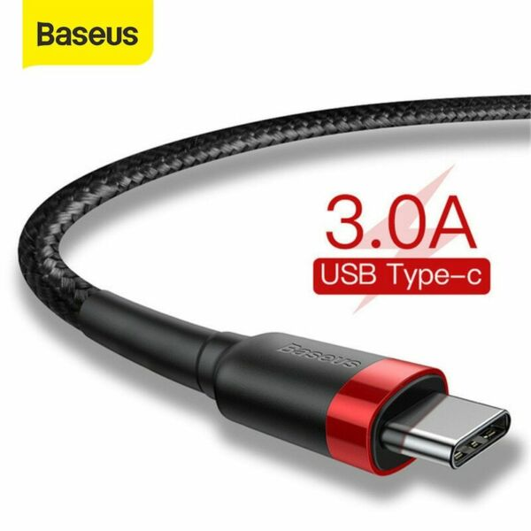 Baseus USB Type C Cable USB-C Fast Charging Data Cord for Samsung Google Huawei