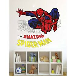 The Amazing Spiderman Wall Sticker Removable Mural Decals Vinyl Art Room Decor