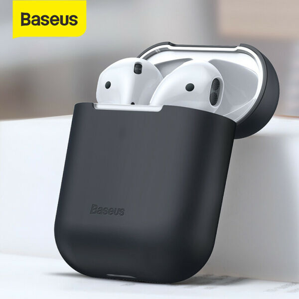 Baseus Shockproof Case Silicone Cover Skin Earphone Shell for Apple Airpods 1 2