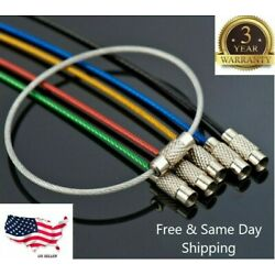 Kyпить 5PCS Stainless Steel Wire Keychain Cable Key Ring Chain Outdoor Hiking Style Hot на еВаy.соm