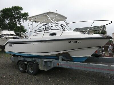 2002 Boston Whaler 235 Conquest Sports Fishing boat Clean Title 02 Project WA
