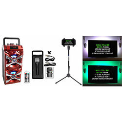 Kyпить NYC Acoustics Bluetooth Karaoke Machine System wActive+TV LED's+Mic+Remote+Stand на еВаy.соm