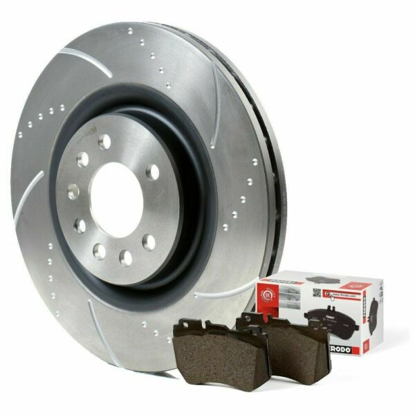Ford Fiesta ST150 Front 40G Grooved Brake Discs and Mintex Brake Pads