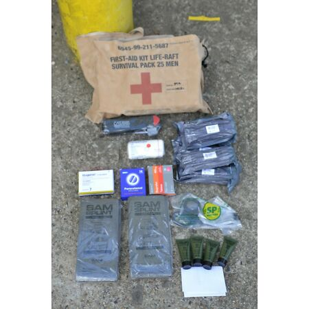 img-Royal Navy Life Raft Survival First Aid Kit 25 Person