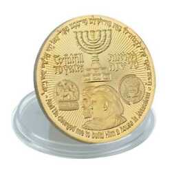 Kyпить New Donald Trump Gold Plated Coin King Cyrus Jewish Temple Jerusalem Israel на еВаy.соm
