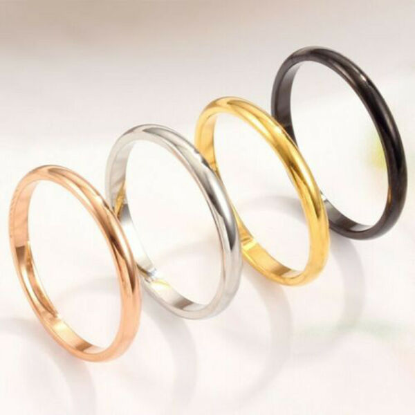 Stackable Punk Men/Women Band Thin Thumb/Toe/Finger/Knuckle Size 3-10 Ring