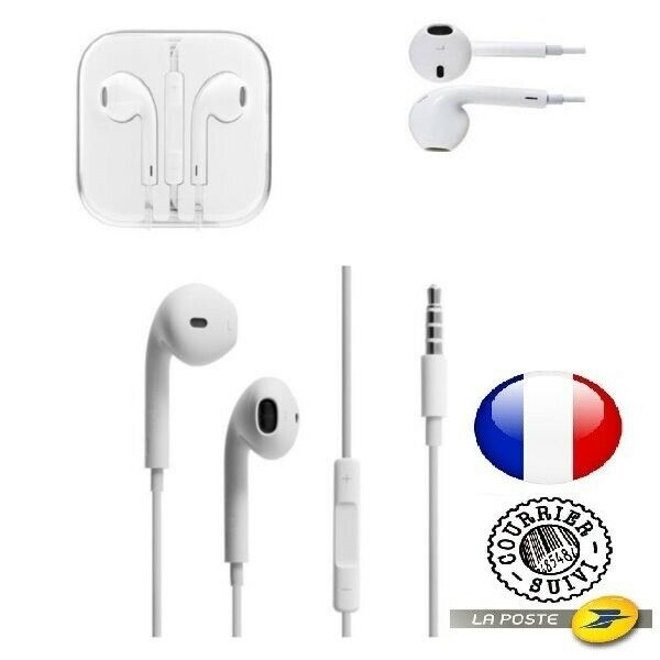 APPLE (MD827) KIT PIETON MAIN LIBRE ÉCOUTEUR IPHONE 5 5s 6 6s EMBALLAGE ORIGINAL