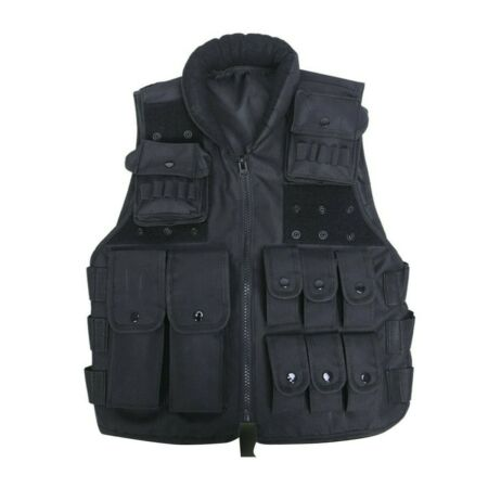 img-Adjustable Tactical Military Airsoft Molle Combat Army Plate Carrier Vest UK