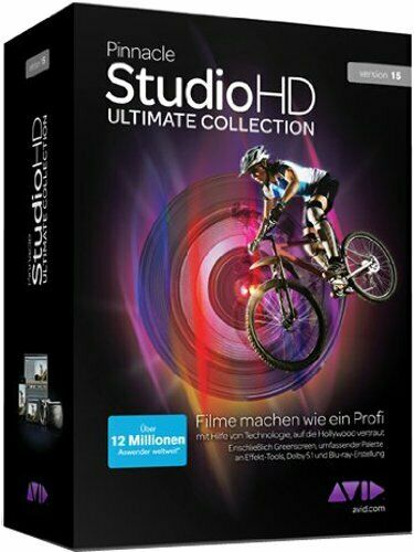Pinnacle Studio 15 HD Ultimate Collection - WIN 10 - ORIGINALE NUOVO ITALIANO