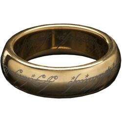 Kyпить Lord of the Rings The One Ring (with runes) - Gold Plated Tungsten,Siz на еВаy.соm