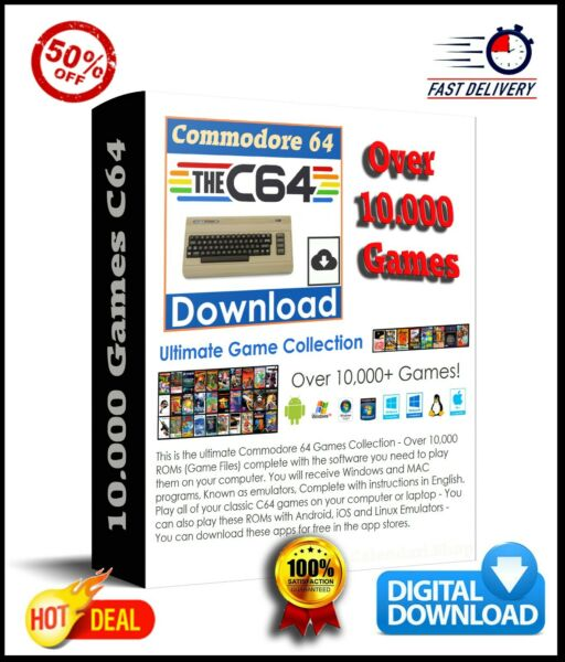 Commodore 64 10.000 + Games C64 Collection With Emulator Windows/MAC - DOWNLOAD