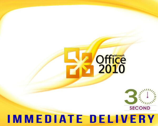 Microsoft  Office 2010 Professional Plus 32/64 bit - 100% Genuine Product Key