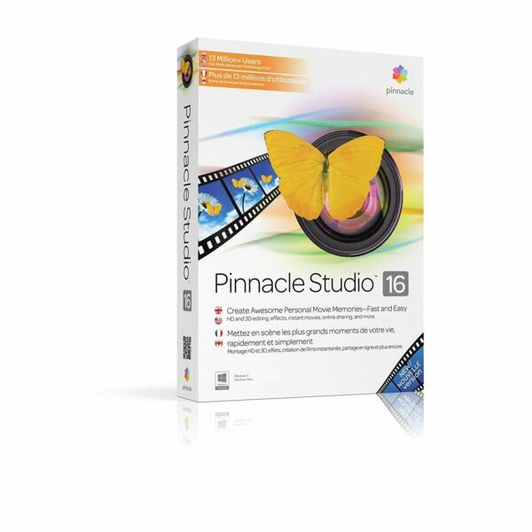 Pinnacle Studio 16 HD WINDOWS 7-8-10 VERSIONE COMPLETA  ITA