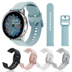 For Samsung Galaxy Watch 4 3 Active2 40/41/44mm Silicone Sport Wrist Band Strap