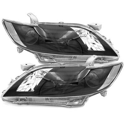 Direct Replacement Euro Style Headlights Lamps Black Clear For 07 08 09 Camry