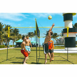 Kyпить Crossnet 4 Way Adjustable Volleyball Net and Volleyball Game Set (Open Box) на еВаy.соm