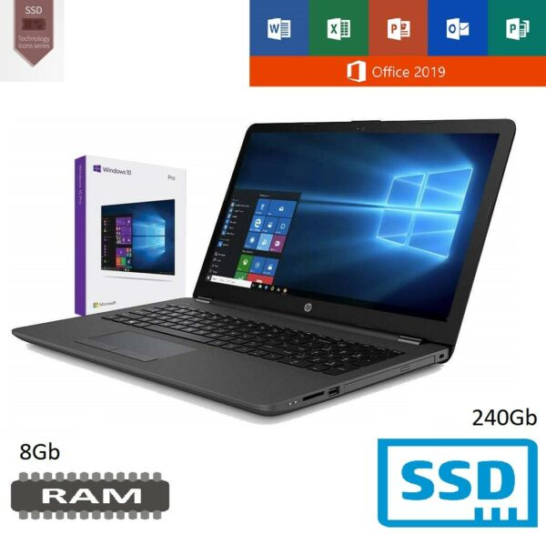 Notebook Hp 255 Ram 8Gb Ddr4 e Ssd M.2 256Gb Display 15.6