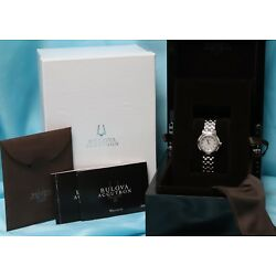 Ladies Bulova Accutron 63R138 Stainless Steel, Diamond & Mother of Pearl Watch!