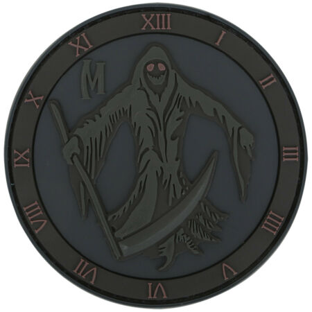 img-Maxpedition Grim Reaper Morale Patch 3D PVC Rubber Badge Stealth Black