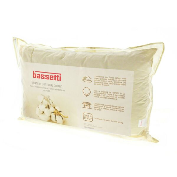 Guanciale Bassetti Natural Cotton Cuscino made in italy puro cotone 50x80 cm