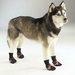 Guardian Gear Dog Puppy Boots Paw Shoes Orange/Black Reflective NEW with Tags