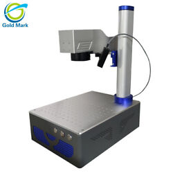 Auto focus 30W Raycus Fiber Laser Marking Machine with DHL and chuck rotary
