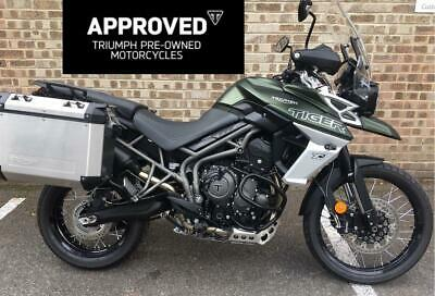 Triumph Tiger 800 XCX (2018) Matt Green TRIUMPH APPROVED+EX DEMO+LUGGAGE+FSH