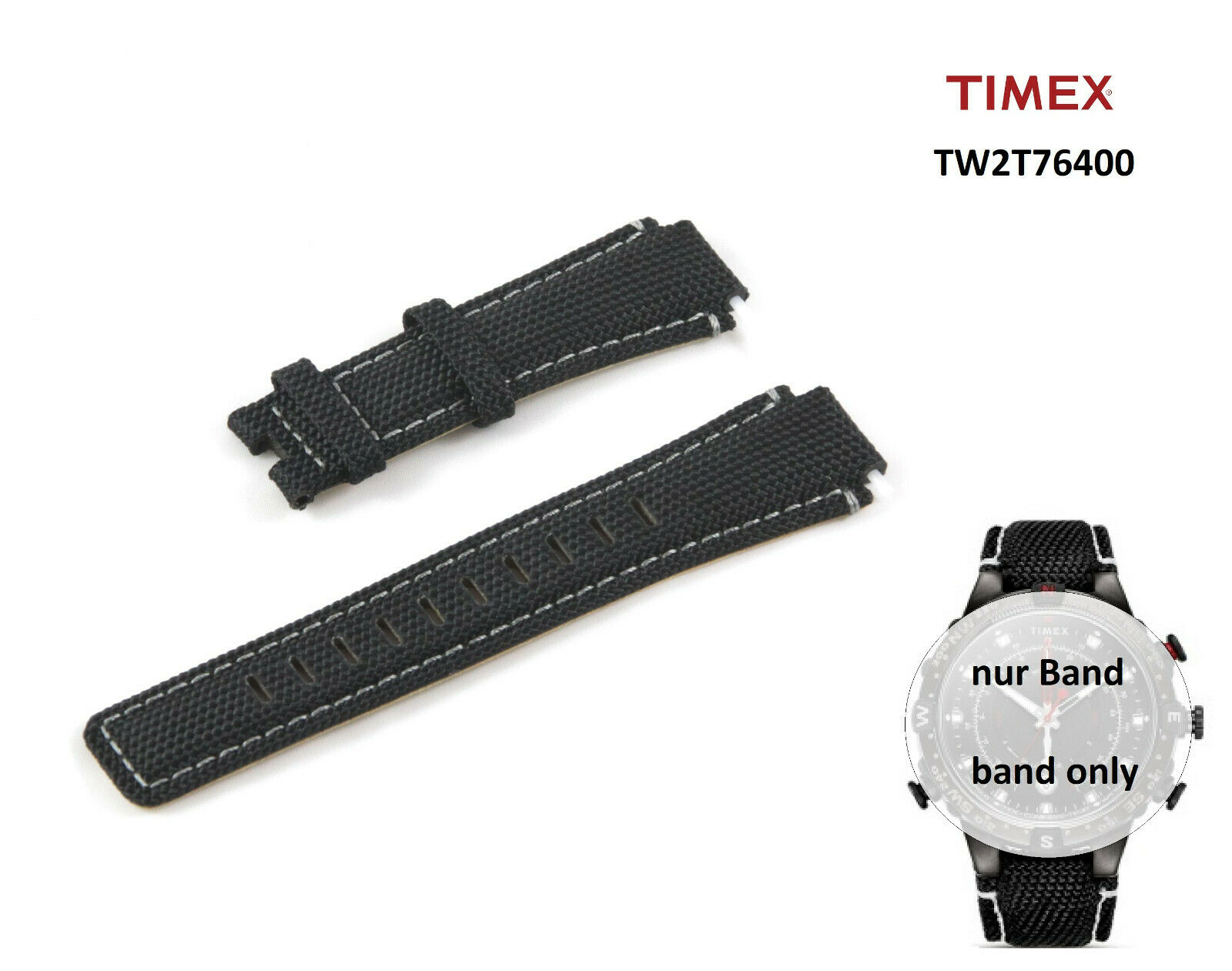 UPC 753048880034 product image for Timex Replacement Band Tw2t76400 Allied - Tide Temp Compass For T2n723 T2n738 | upcitemdb.com
