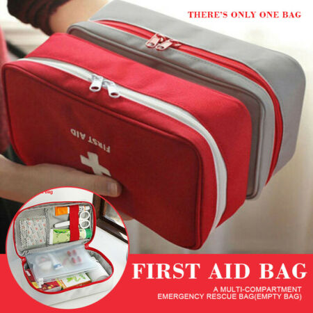 img-FIRST AID KIT BAG EMERGENCY MEDICAL SURVIVAL TREATMENT RESCUE EMPTY BOX KINDLY