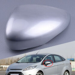 Left Silver Wing Door Mirror Cover Cap Housing Fit for Ford Fiesta MK7 2008-2018