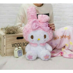 New Kawaii My Melody Doll Plush Toy Soft With Blanket Cos Girls Gift Rose Velvet