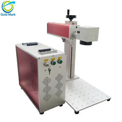 30W JPT Fiber Laser Marking Machine with rotary axis attachment