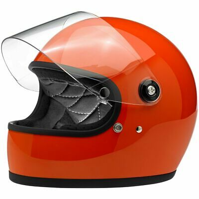 Biltwell Closeout Gringo S ECE/DOT Full Face Helmet - Gloss Hazard Orange