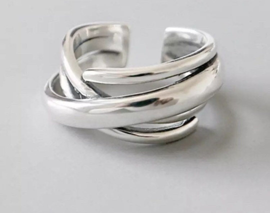 925 Sterling Silver Adjustable Ring, Stackable Ring, Open Ring, Thumb Ring