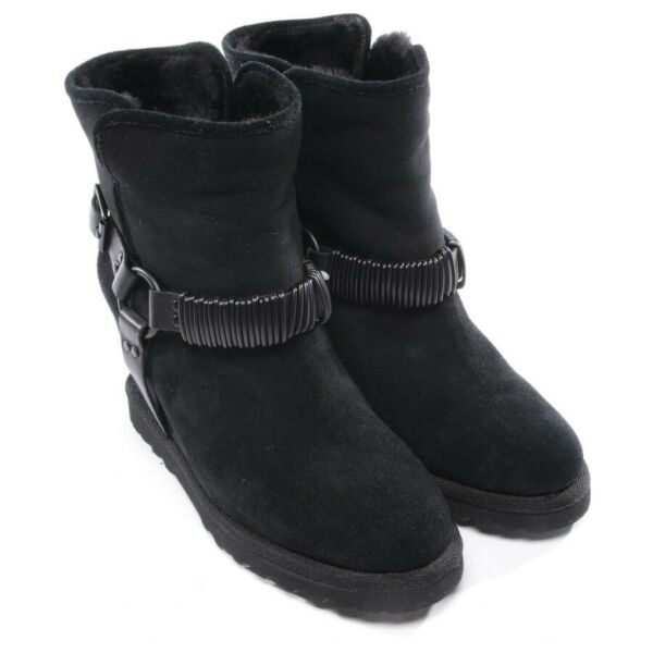 AllemagneAsh Ankle Boots Size Black Women Shoes Boots Shoes New Belt Cowhide of