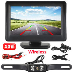 Kyпить Wireless Car Backup Camera Rear View HD Parking System Night Vision + 5