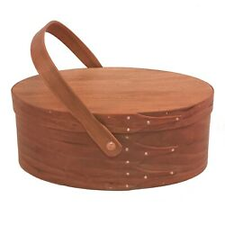 Shaker Swing Handle Carrier Large with Cherry Bands and American Lacewood Top, H