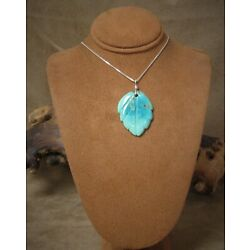 Kyпить Pretty Carved Turquoise Leaf Necklace на еВаy.соm
