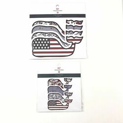 Vineyard Vines American Flag Whale Stickers For Target Four Vinyl 2 Pack