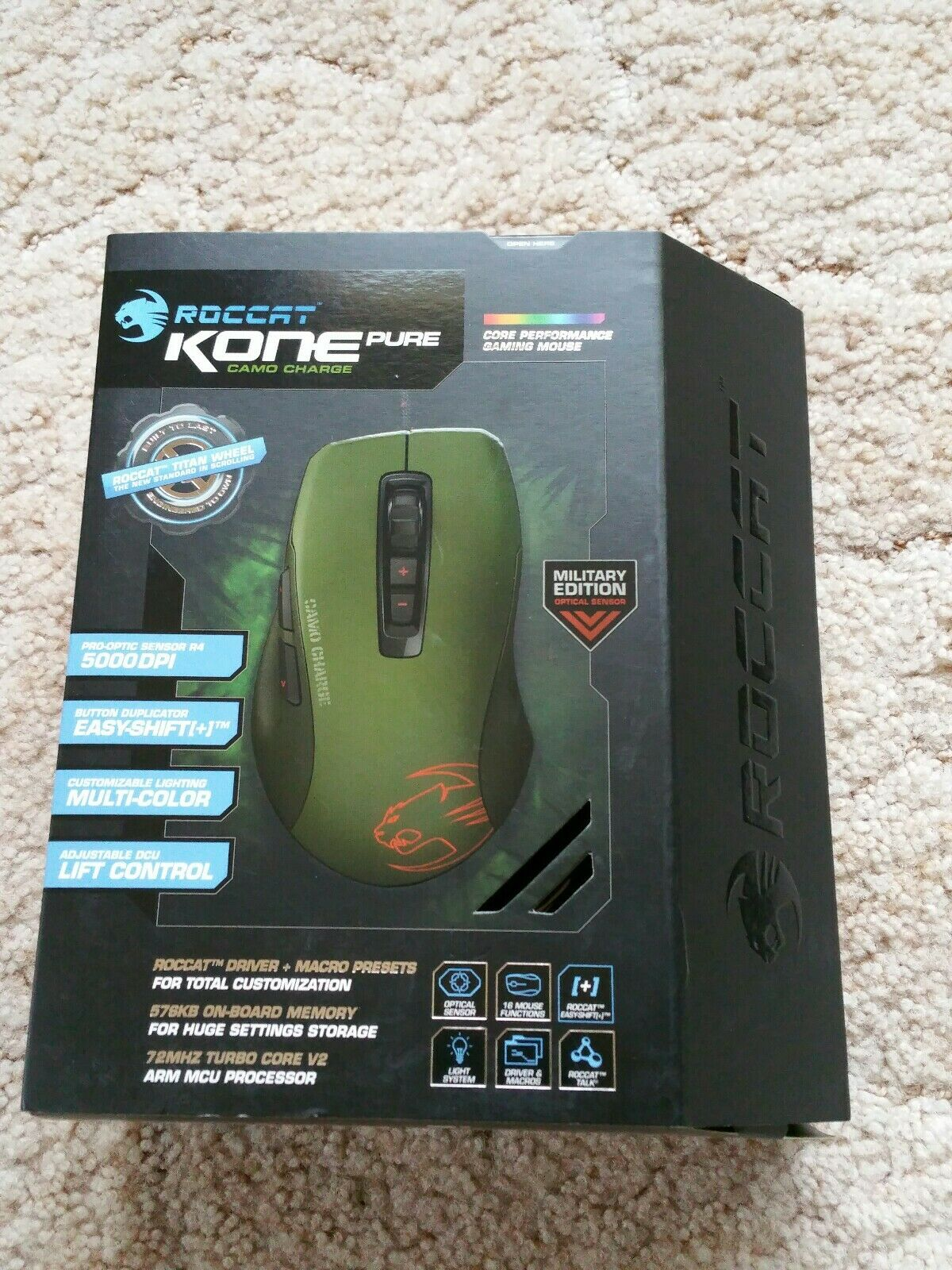 EAN 4250288143296 product image for Roccat Kone Pure Gaming Mouse. Military Edition Camo Charge. 5000dpi 1000hz Pr | upcitemdb.com
