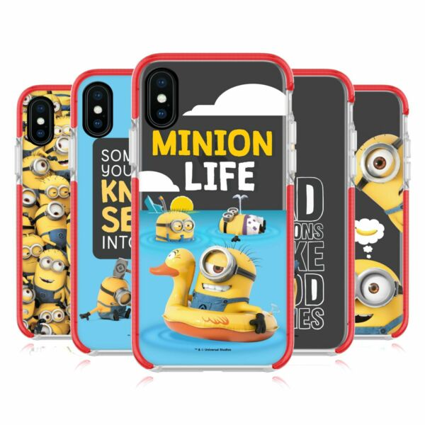 Royaume-UniDESPICABLE ME FUNNY  ROT SCHOCKSICHERER BUMPER HÜLLE APPLE iPHONE HANDYS