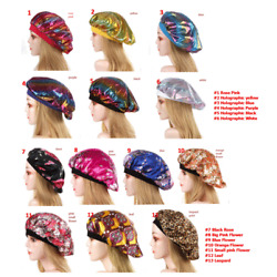 Kyпить Satin Night Sleep Cap Hair Bonnet Hat Head Cover Wide Elastic Band Women NEW US на еВаy.соm