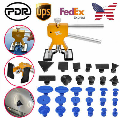 PDR Tools Car Paintless Hail Removal Dent Repair Kit Glue Puller Lifter & Tabs