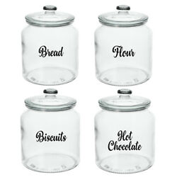 KITCHEN LABELS FOR GLASS JARS TINS CANISTERS TUBS STORAGE BOXES POT TEA STICKERS