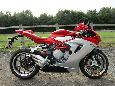2016 MV Agusta F3 800 EAS ABS.Only 2844Mls.Red,FSH,Pristine