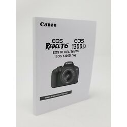 Kyпить Canon Rebel T6 EOS 1300D Instruction Owners Manual Book NEW на еВаy.соm