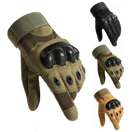 img-Tactical Hard Knuckle Gloves Army Military Commando Special Ops Combat Hunting