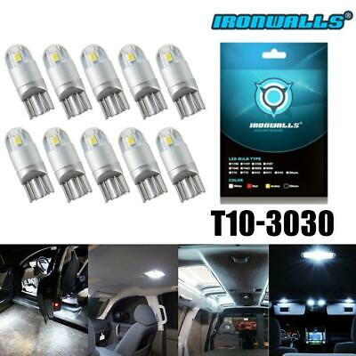 10X AUXITO T10 194 168 LED CANBUS License Plate Interior Wedge Light Bulbs White